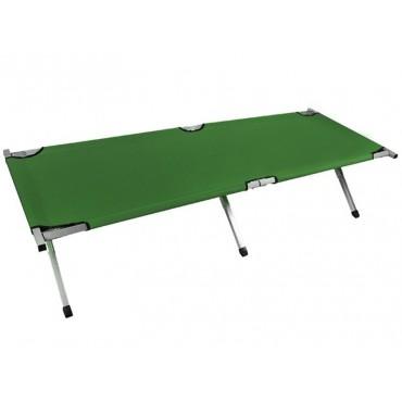 Łóżko polowe - kanadyjka 210cm zielone
