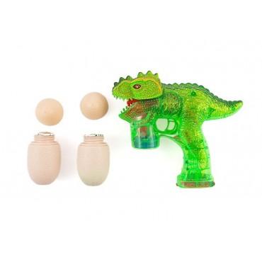 Pistolet do baniek mydlanych tyranozaur na baterie