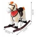 Koń na biegunach 74cm/K4592 - beżowy