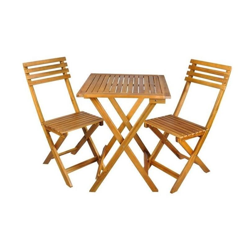 Stolik + 2 krzesła - zestaw mebli drewnianych