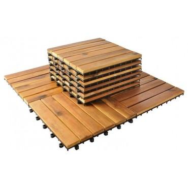 Płytki drewniane 30x30cm -...