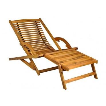 Leżak ogrodowy - drewniany