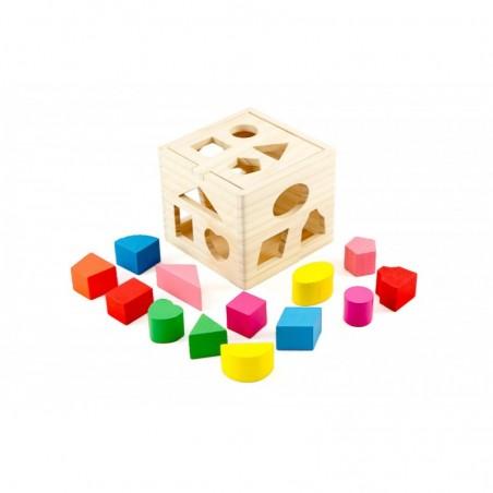 Drewniana kostka edukacyjna sorter Lilupi