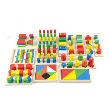 Duży zestaw montessori sorter i kształty Lilupi