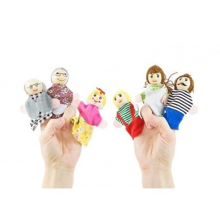 Pacynki kukiełki na palec zestaw rodzina