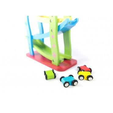 Tor samochodowy drewniana zjeżdżalnia 4 auta Lilupi