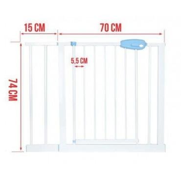 Bramka bezpieczeństwa do futryny+rozszerzenie 15cm