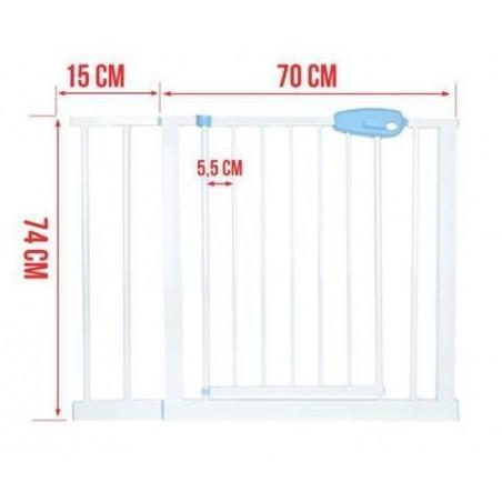 Barierka rozporowa bramka bezpieczeństwa do futryny + rozszerzenie 28 cm