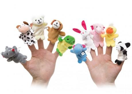 Pacynki zwierzęta kukiełki na palec zestaw