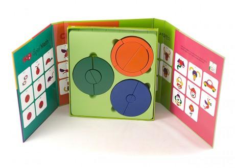 Kółka Montessori zestaw klocków kształty tangram