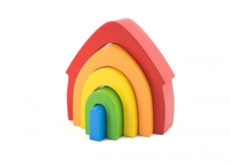 Domek tęcza montessori kolorowa układanka