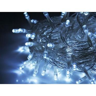 Lampki 100 LED 30V - zimny...