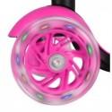 Hulajnoga trójkołowa 3w1 LED - różowa