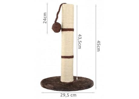 Drapak dla kota - słupek brązowy 45cm