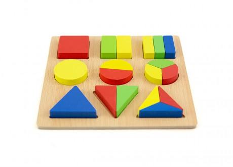 Sorter płaski 2 ukladanka drewniana puzzle klocki