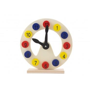 Drewniany zegar do nauki...