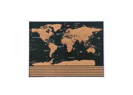 Mapa świata - zdrapka z flagami