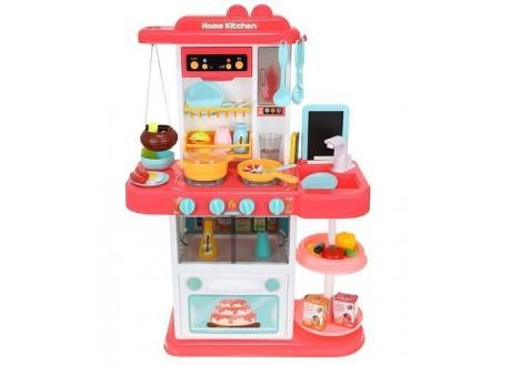 Kuchnia zabawkowa 72cm różowa + para