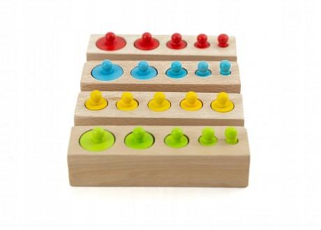 Cylindry Montessori bloki z cylindrami układanka