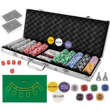 Poker - zestaw 500 żetonów...
