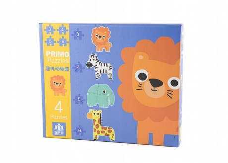 Primo Puzzle Zwierzęta pierwsza układanka klocki