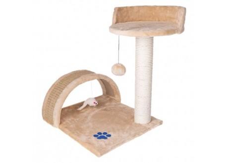 Drapak dla kota - słupek+legowisko beżowy