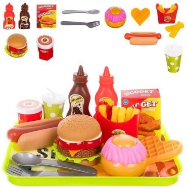 Fast food zestaw zabawkowy