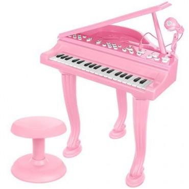 Fortepian zabawkowy różowy