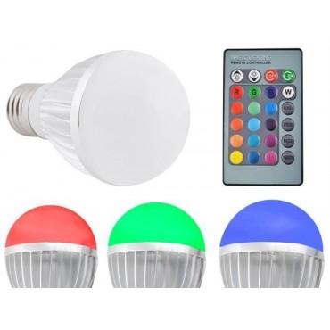 Żarówka LED E27 RGB