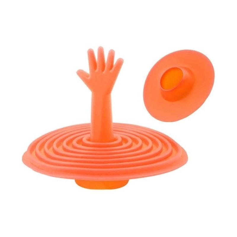 Korek silikonowy do zlewu - pomarańczowy
