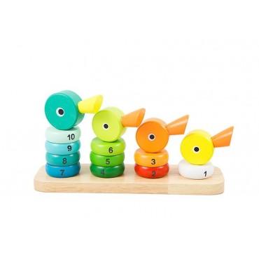 Sorter kaczki układanka klocki drewniane wieża