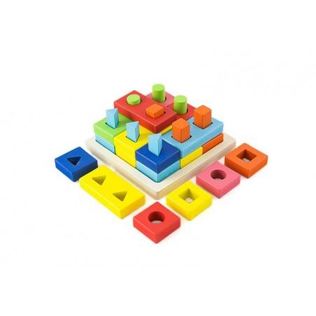 Sorter logiczny kształty kolory układanka sensoryczna puzzle